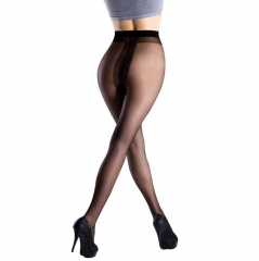 Usexy T Crotch Pantyhose Women's Fashion Black Nylon Tights Slim Sexy Seamless Design black f