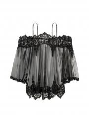 Usexy Exotic Nightwear Women Sexy Lingerie Costumes Dress White Lace Babydoll Dress + Underwear black f