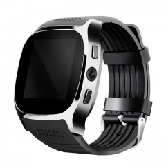 T8 Bluetooth Smart Watch With Camera  Facebook Whatsapp Sync SMS Smartwatch Support SIM TF Card black one size