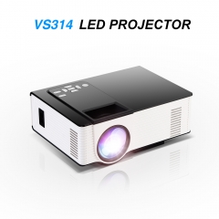 VS314 LED Mini Projector Full HD 1500 Lumens 800 x 480 Pixels 0.9 - 6M Home TV Media Player as shown one size