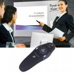 Wireless Presenter Red Laser Pointers Pen USB RF Remote Control Page Turning as shown one size