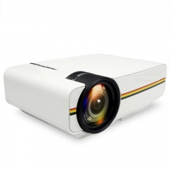 YG400 up YG400A Mini Projector Wired Sync Display More stable than WIFI Beamer white one size