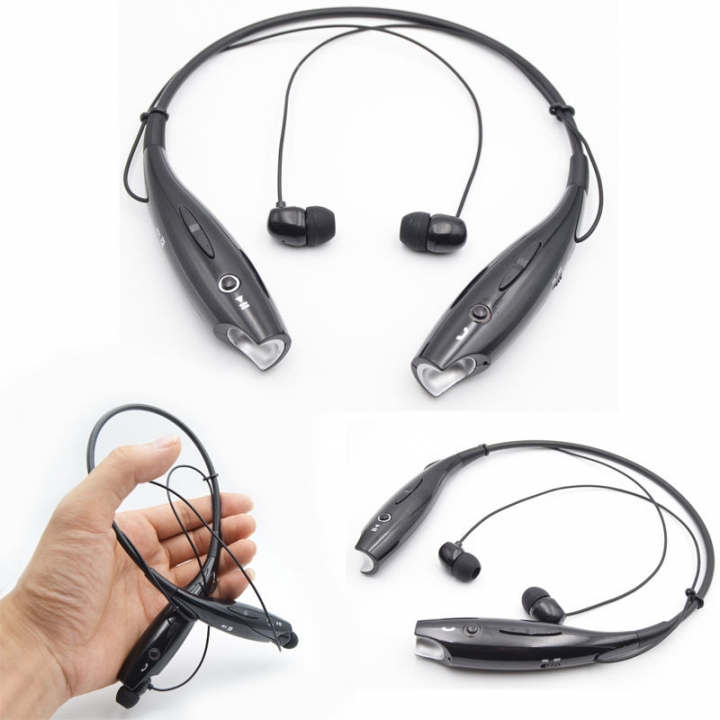 HOT 730 Wireless Bluetooth Headset Sports Bluetooth Earphones Headphone with Mic Bass Earphone black