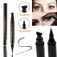Winged Eyeliner Stamp Waterproof Makeup Cosmetic Eye Liner Pencil Black Liquid as picture shown
