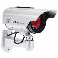 Fake Camera Solar and Battery Powered Flicker Blink LED Rainproof Outdoor Dummy Security Camera