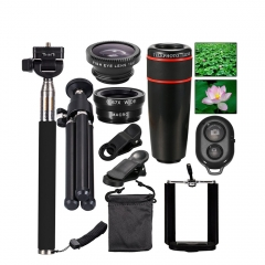 All in 1 Accessories Phone Camera Lens Top Travel Kit cellphones APL-12X10in1 as shown one size