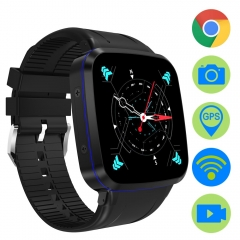 3G Android Smart Watch GPS WiFi Smartwatch ZW92 Support SIM Card 5MP Camera Fitness Tracker black X5