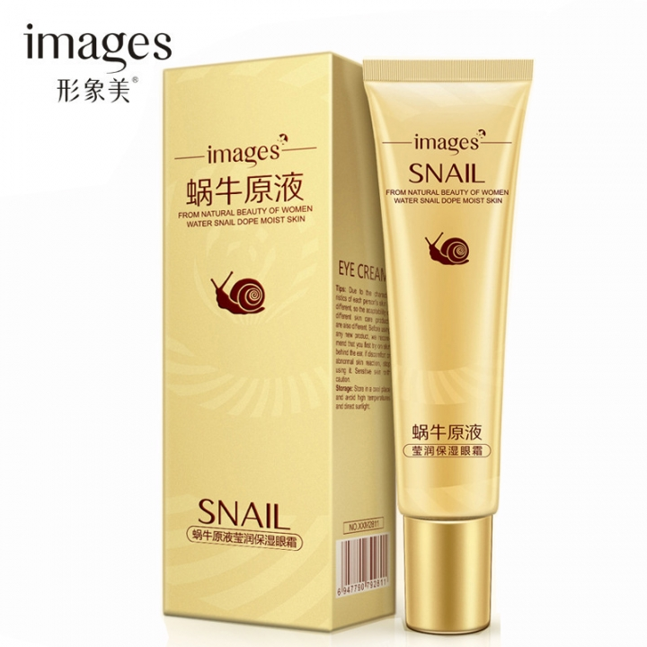 Remove Dark Circles Hyaluronic Acid Cream Snail Eye Cream Whitening Moisturizing Anti-aging Wrinkle as shown