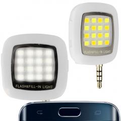 Smart phone flash lighting, led flash light selfie lamp white one size