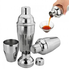 1Pcs 550ml Stainless Steel Cocktail Shaker Cocktail Mixer as shown one size