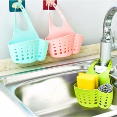 Kitchen Portable Hanging Drain Bag Bath Storage Gadget Sink Holder Soap Holder Rack random one size