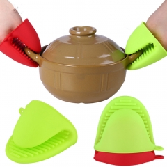 2Pc  Heat Resistant Gloves Clips Insulation Non Stick Anti-slip Pot Clip Baking Oven Mitts random one size