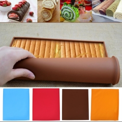 1pc Non-stick Silicone Oven Mat Cake Roll Mat Baking Mat Baking  Pad Swiss Roll Pad red one size