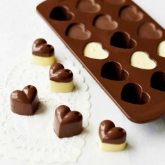 Non-stick Silicone Chocolate Molds Love Heart Shaped Cake Mould Bakeware Baking Tools as shown one size
