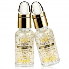 2 pc 24k Pure Gold Foil Face Lift Anti-Aging Whitening Moisturizing Oil Control Face Cream as shown