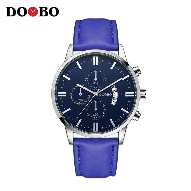 DOOBO Mens Watches Strap Quartz Watch Fashion Casual Sport Watch Clock Wristwatch blue one size