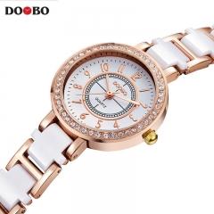 DOOBO Watch Women Small Quartz-watch Fashion Ladies Bracelet Watches Women Montre Femme white