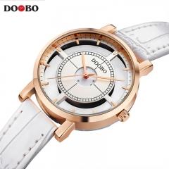 DOOBO Watches Women Quartz Watch Women Fashion Relojes Mujer Ladies Wrist Watches Business white