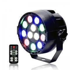 12W IR Remote RGBW LED Par lights Sound Control dj disco bar Projector stage light 如图所示 As shown one size 12W