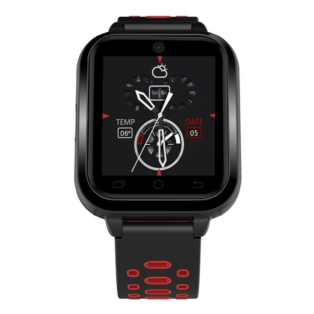 4G GPS WIFI Smart Watch With 1GB RAM 8GB ROM MTK6737 Smartwatch Blood Pressure Smart-watch red one size