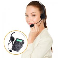 HT500 Headset Telephone Desk Phone Headphones Headset Hands-free Call Center