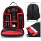 P1 Waterproof Digital DSLR Photo Padded Backpack w/ Rain Cover Multi-functional SLR Camera Soft Bag Red one size