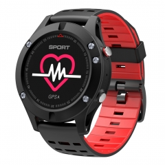 F5 Smart Watch Android smartwatch GPS Smartwatch Heart Rate Monitor Watch Waterproof Watch Wristband red one size