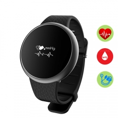 Bluetooth Smart watch Blood pressure/heart rate monitor smartwatch Smart Wristband black one size