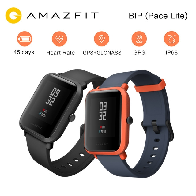 Huami Amazfit Bip Pace Lite Sports Smart Watch Youth Edition GPS Heart Rate Monitor for Andoid IOS orange one size