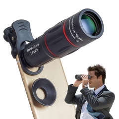 18X Telescope Zoom Mobile Phone Lens Smartphones universal clip Telefon Camera Lens with tripod as shown one size