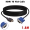 1.8 M HDMI Cable HDMI To VGA 1080P HD With Audio Adapter Cable HDMI TO VGA Cable Accessories.