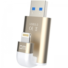 DM APD003 USB Flash Drive 64GB For iPhone 8 7 Plus Lightning to Metal Pen Drive U Disk as shown one size