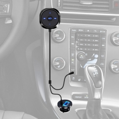 Handsfree Bluetooth Car Kit MP3 A2DP 3.5mm AUX Audio Music Receiver Adapter 5V 2.1A USB Charger