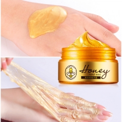 24K Gold Milk Honey Paraffin Wax Hand Mask Peel off Mask Exfoliating Calluses Moisturizing Whitening as shown