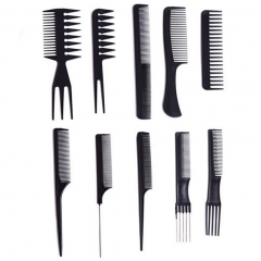 10pcs/lot Black Makeup Comb Set Styling Hairdressing Comb In as shown one size