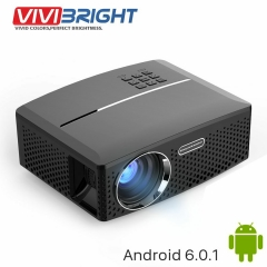 VIVIBRIGHT LED Projector GP80 / UP. 1800 Lumens. Support Full HD as shown one size