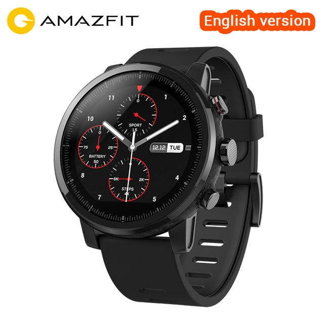 Huami Smart Watch Amazfit Stratos 2 Amazfit 2 Bluetooth GPS PPG Heart Monior 11 Kinds of Sport Mode black one size