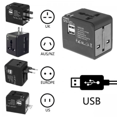 Universal Travel Adapter Power Adapter Electric Plugs Sockets Adapter Converter USB Travel as shown one size