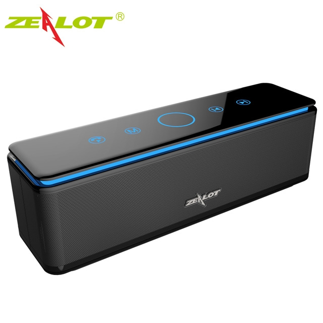 ZEALOT S7 Speaker Touch Control Speakers Bluetooth Wireless 4 Drivers Audio Home Music Theatre black one size one size