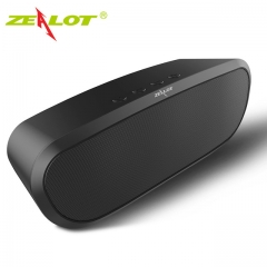 ZEALOT S9 Portable Wireless Bluetooth 4.0 Speaker Support TF Card AUX U Disk FM Radio black one size one size