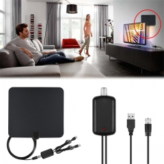 Digital TV Antenna Indoor antena digital hdtv with Signal Amplifier 25dBi as shown one size