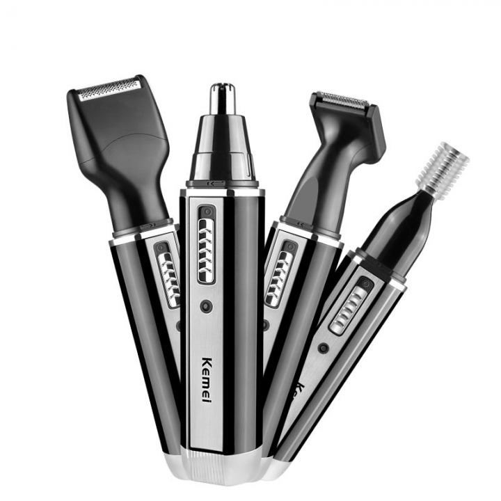 4 in 1 Nose and Ear Hair Trimmer Face Hair Trimmer With Temple Cut For Men as shown one size