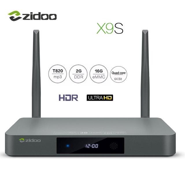 ZIDOO X9S TV BOX 4K*60fps HD HDMI 2.0 Set-top Boxes Dual Band WIFI 2G+16G IPTV Media Player