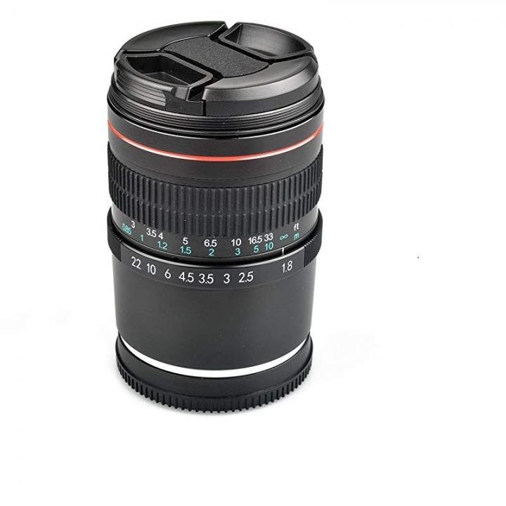 Lightdow 85mm F1.8 Medium Telephoto Portrait Full Frame E Mount Lens for Sony A9 as shown one size