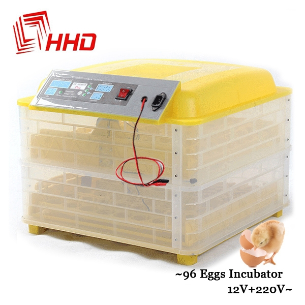 Poultry Hatchery Machine 96eggs Digital Full Automatic Incubator for Chicken Duck Quail Parrot as shown