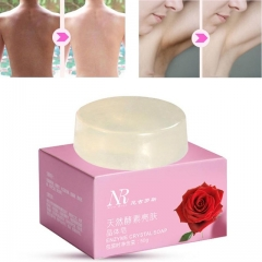 Natural Active Enzyme Crystal Soap Intimate Bleaching Body Skin Whitening as shown