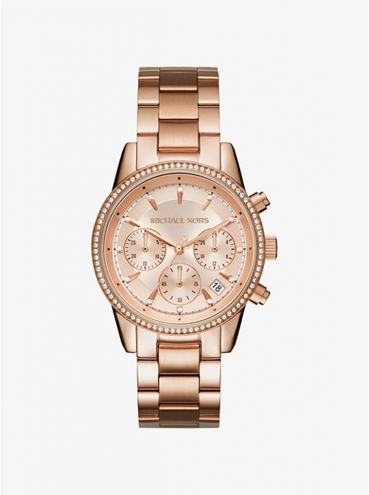 MICHAEL KORS Ritz Rose Gold-Tone Watch as shown one size