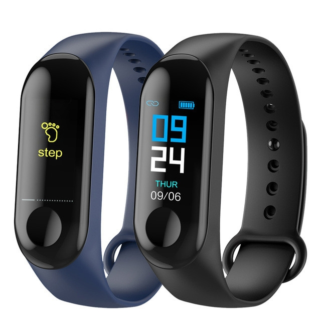 M3 Smart Band Blood Pressure Fitness Tracker Pedometer Heart Rate Monitor Smart Bracelet Wristband black one size