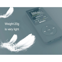 original English version Ultrathin MP3 Player with 8GB storage and 1.8 Inch Screen can play 80h black