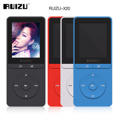 latest Original RUIZU X20 MP3 Player With 1.8 Inch Screen Can Play 100 hours,8gb With FM black